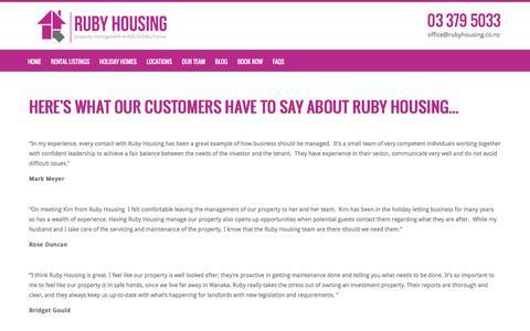 Screenshot of Testimonials Page rubyhousing.co.nz - Landlord testimonials - captured July 7, 2018
