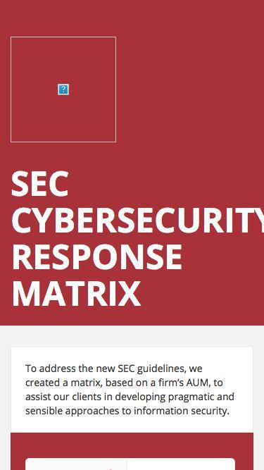 SEC Cybersecurity Response Matrix
