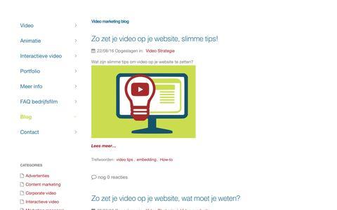 Screenshot of Blog 3xfilm.nl - Video marketing blog: Video strategie voor bedrijven en bedrijfsfilms - captured March 12, 2017