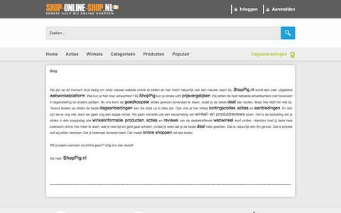 Screenshot of Blog shop-online-shop.nl - Dagaanbieding | Kortingscode | Shop | Online Shoppen - Blog - captured Sept. 23, 2018