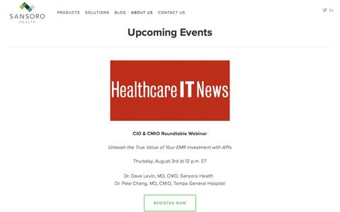 Upcoming Healthcare IT Events | Sansoro Health — Sansoro Health