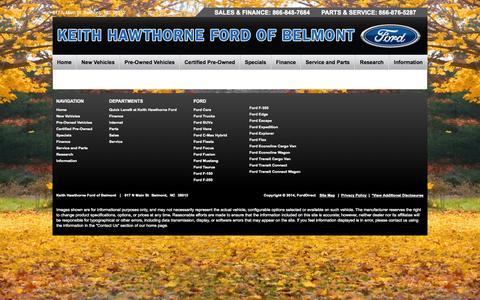 Screenshot of Testimonials Page fordofbelmont.com - Testimonials - captured Nov. 3, 2014