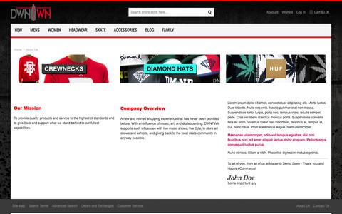 Screenshot of About Page dwntwnonline.com - About  Us - captured Oct. 5, 2014