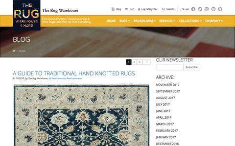 Screenshot of Blog therugwarehouse.com - Blog |  The Rug Warehouse - captured Nov. 17, 2017