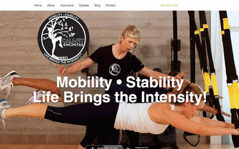 Screenshot of Home Page califitwko.com - Cali Fit WKO Wellness Kindness Organization - captured March 5, 2016