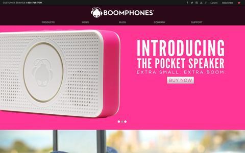 Screenshot of Home Page boomphones.com - Boomphones - captured Sept. 26, 2015
