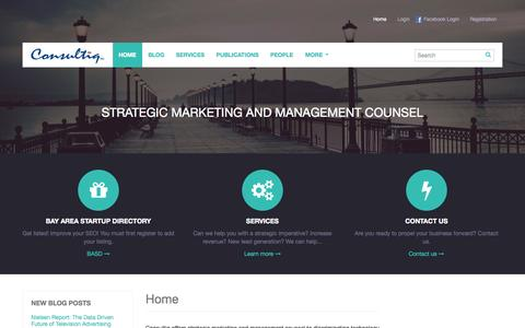 Screenshot of Home Page consultiq.com - Home Strategic marketing and management counsel. - captured Sept. 30, 2014