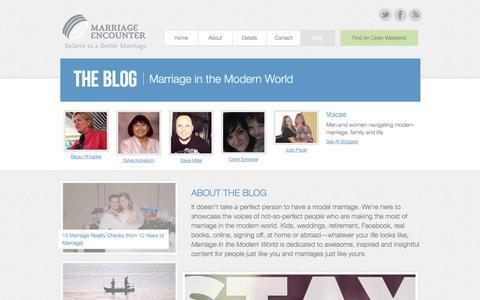 Screenshot of Blog agme.org - Blog - Marriage Encounter - captured Oct. 4, 2014