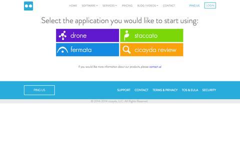 Screenshot of Login Page cicayda.com - login @cicayda - captured Nov. 5, 2014