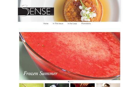Screenshot of Home Page thesenseofitall.com - Sense Magazine - captured Oct. 7, 2014