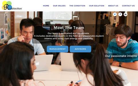 Screenshot of Team Page rubitection.com - The Team - captured Nov. 4, 2014