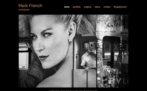 Screenshot of Home Page markfrench.eu - Mark French Photography - captured Oct. 6, 2014