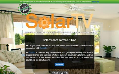 Screenshot of Developers Page solartv.com - Welcome to SolarTv.com - captured Jan. 12, 2016