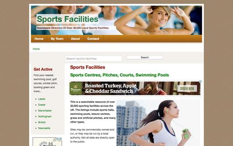 Screenshot of Home Page sports-facilities.co.uk - Sports Facilities - captured Oct. 11, 2015