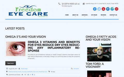 Screenshot of Blog freedom-eyecare.com - Blogs - Freedom Eye Care | - captured Sept. 30, 2014