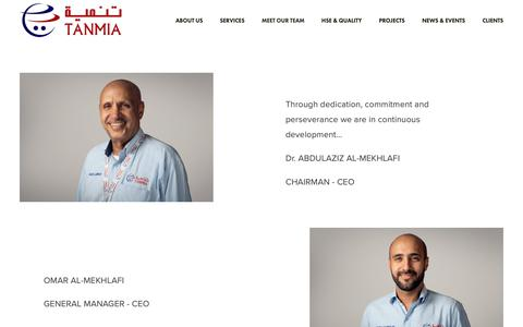 Screenshot of Team Page tanmialtd.com - Meet Our Team — Tanmia - captured Nov. 19, 2018