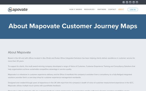 Screenshot of About Page mapovate.com - About Mapovate Customer Journey Mapping Software | Mapovate - captured July 8, 2018