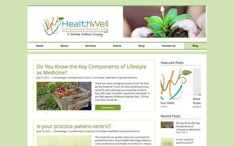 Screenshot of Blog healthwellcs.com - HealthWell Corporate Solutions | Blog - captured Nov. 4, 2016