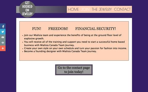Screenshot of Signup Page gethookedonjewelry.com - About - captured Oct. 27, 2014