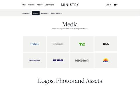 Press Contacts, Coverage, and Media Resources | Ministry of Supply
