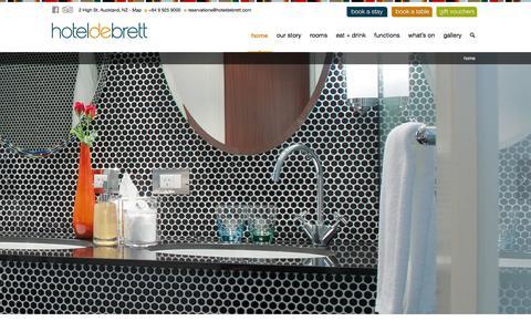 Screenshot of Home Page hoteldebrett.com - Hotel DeBrett - Luxury Boutique Hotel Accommodation Auckland City New Zealand | Best Hotel Auckland | Five Star Hotels | 5 Stars Hotel Auckland - captured Jan. 21, 2015