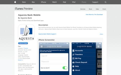 Screenshot of iOS App Page apple.com - Aquesta Bank Mobile on the App Store on iTunes - captured Nov. 2, 2014