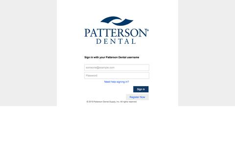 Screenshot of Login Page pattersoncompanies.com - Sign In - captured Dec. 8, 2019