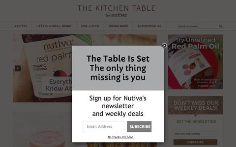 The Nutiva Kitchen Table - Superfood Recipes | DIY Bodycare | Eco-Living