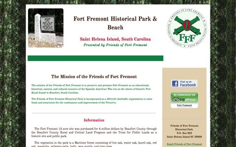 Screenshot of About Page Contact Page Site Map Page fortfremont.org - Friends of Fort Fremont Historical Park - Mission & Information - captured June 13, 2016