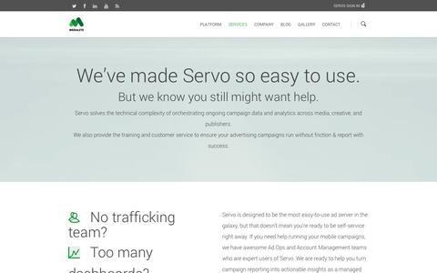 Screenshot of Services Page medialets.com - Services |  Medialets - captured Sept. 16, 2014