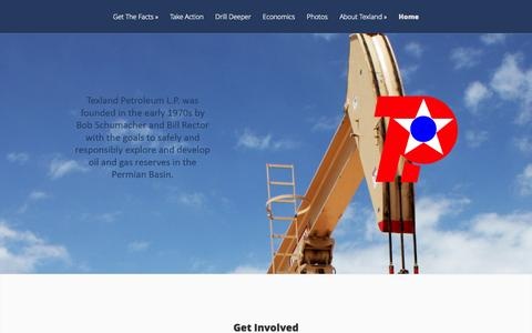Screenshot of Home Page texpetro.com - Texland Petroleum, L.P. | - captured Oct. 1, 2014