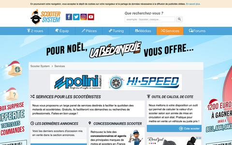 Screenshot of Services Page scooter-system.fr - Services gratuits - Scooter System - captured Dec. 9, 2018
