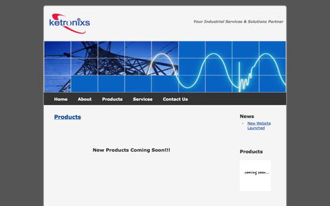 Screenshot of Products Page ketronixs.com - Ketronixs Sdn Bhd - Products - captured Oct. 6, 2014