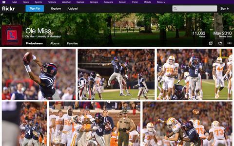 Screenshot of Flickr Page flickr.com - Flickr: Ole Miss - University of Mississippi's Photostream - captured Oct. 22, 2014