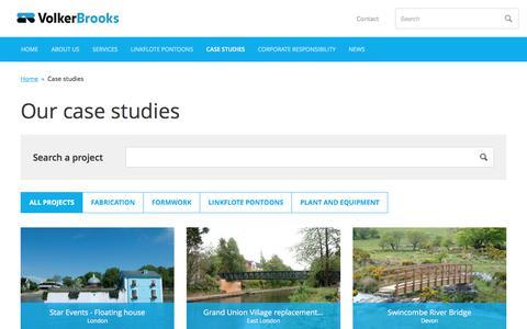 Screenshot of Case Studies Page volkerbrooks.co.uk - Case studies         -     VolkerBrooks - captured June 14, 2017