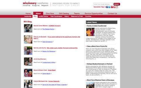 Screenshot of Blog mvi.org - Blog « Missionary Ventures InternationalMissionary Ventures International - captured Nov. 4, 2014
