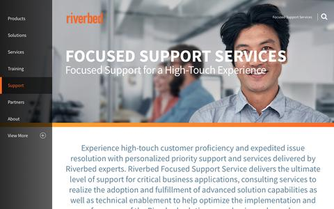 Screenshot of Support Page riverbed.com - Focused Support Services | Riverbed | AE - captured May 25, 2017