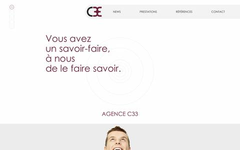 Screenshot of Home Page c33.ch - Agence C33 - captured Nov. 20, 2016