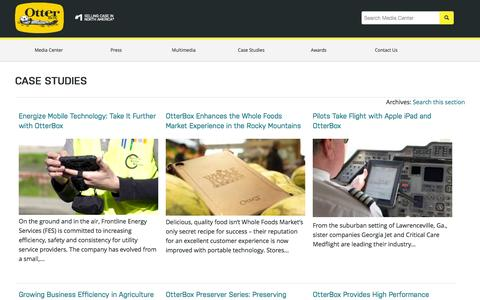 Screenshot of Case Studies Page otterbox.com - Case Studies | OtterBox - captured Oct. 2, 2015