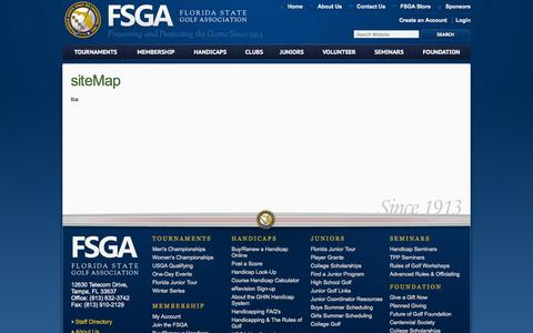 Screenshot of Site Map Page fsga.org - Sitemap - captured Sept. 19, 2014
