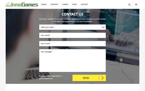Screenshot of Contact Page innogames.com - Contact - captured Aug. 5, 2016