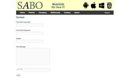 Screenshot of Contact Page sabo-gmbh.de - Contact | Sabo GmbH - captured Oct. 3, 2014