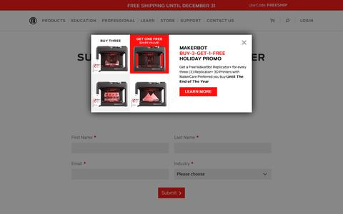 Subscribe to Our Newsletter | MakerBot