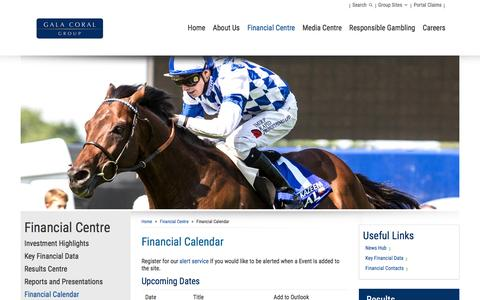Screenshot of galacoral.co.uk - Financial Calendar – Gala Coral - captured March 20, 2016