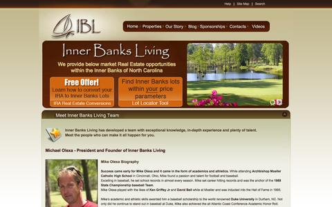 Screenshot of Team Page innerbanksliving.com - Meet Inner Banks Living Team - captured Sept. 30, 2014