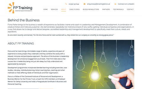 Screenshot of About Page fptrainingltd.co.uk - Leadership and Management Development in the UK   FP Training - captured Nov. 6, 2018