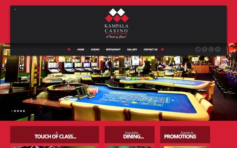 Screenshot of Home Page kampalacasino.com - Kampala Casino - captured Oct. 4, 2014