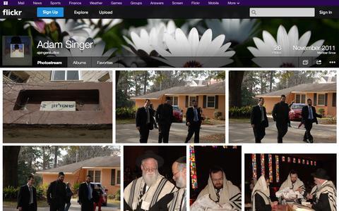 Screenshot of Flickr Page flickr.com - Flickr: ajsingerstudios' Photostream - captured Oct. 23, 2014