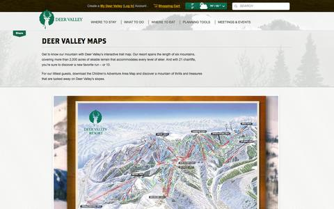 Screenshot of Maps & Directions Page deervalley.com - Deer Valley Resort Trail and Lodging Maps - captured Sept. 19, 2014