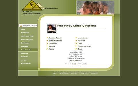 Screenshot of FAQ Page philconditcpa.com - Fargo, ND CPA / Phil Condit, P.C. - captured Oct. 1, 2014